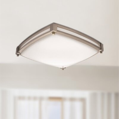 Saturn LED Flush Mount Finish: Nickel, Bulb Color Temperature: 4000K