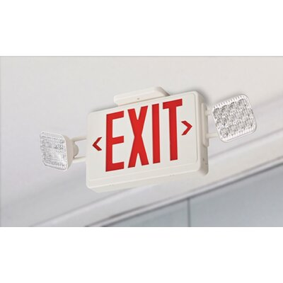 Contractor Select Thermoplastic LED Emergency Exit Sign Light Combo