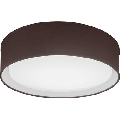 Aberdale LED Flush Mount Bulb Color Temperature: 3000K, Shade Color: Brown