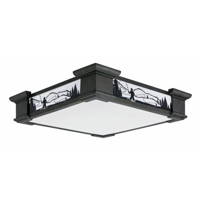 Motifs 1-Light 55W Flush Mount