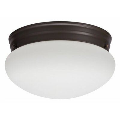 Mushroom 1-Light Flush Mount Finish: Bronze