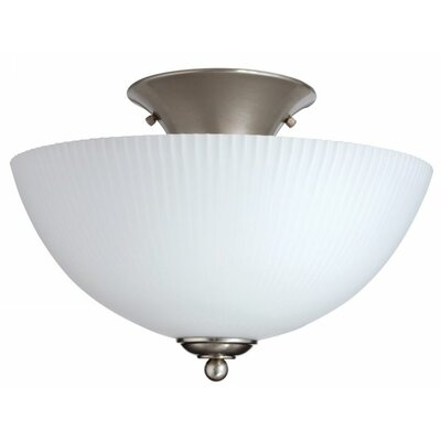 Elliptis Large 1-Light Semi Flush Mount