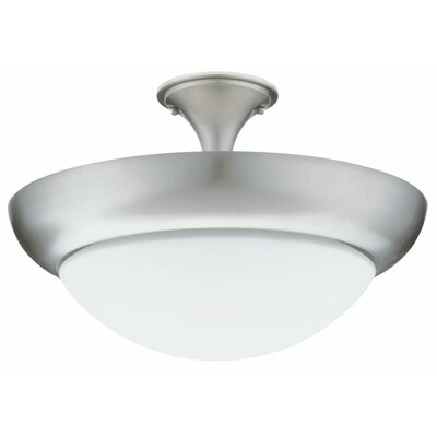 Pristine Small 1-Light Semi Flush Mount