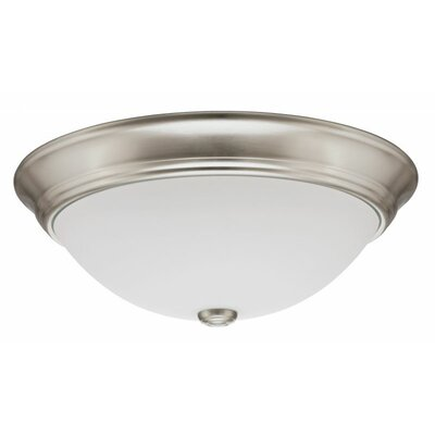 Decor Round 1-Light Flush Mount Finish: Brushed Nickel