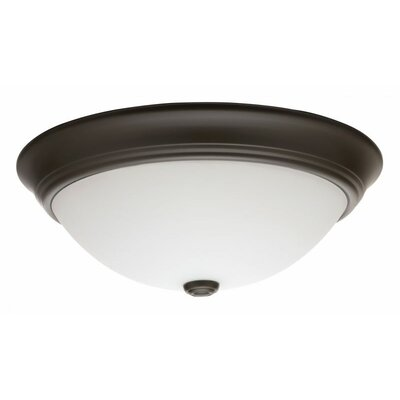 Decor Round 1-Light Flush Mount Finish: Bronze