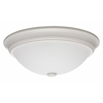 Decor Round 1-Light Flush Mount Finish: White
