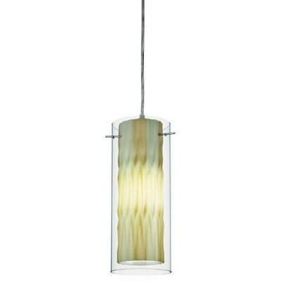 Zentro 1-Light Mini Pendant Finish: Chrome with Seaweed Green Glass