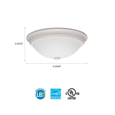 Essentials LED Round D�cor 1-Light Flush Mount Finish: White, Size: 4.5 H x 10 W x 10 D, Bulb Color Temperature: 3000K