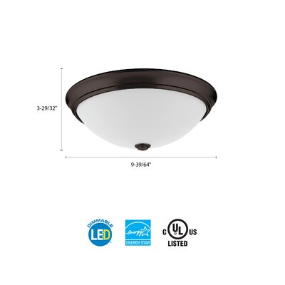 Essentials LED Round D�cor 1-Light Flush Mount Finish: Bronze, Size: 4.5 H x 10 W x 10 D, Bulb Color Temperature: 4000K