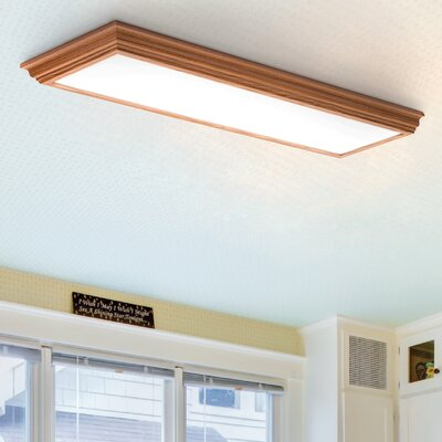 Cambridge LED Semi Flush Mount Finish: Oak
