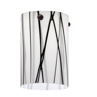 3.38 Glass Drum Pendant Shade Color: White Drizzle