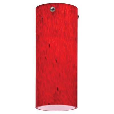 3.38 Glass Drum Pendant Shade Color: Apple Red