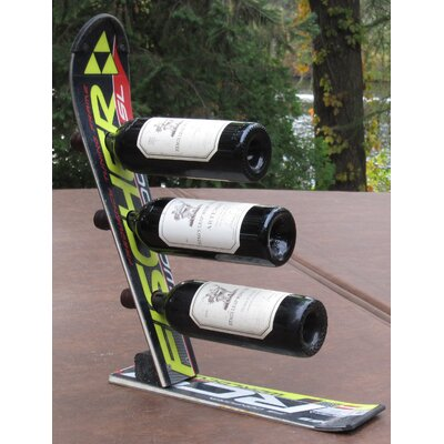 Snow 3 Bottle Tabletop Wine Rack Finish: Black Fisher