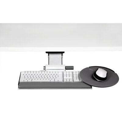 7 H x 28 W Desk Keyboard Platform Finish: White