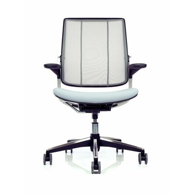 Smart Office Chair Seat Fabric: Vellum - Light Gray, Back Fabric: Pinstripe Mesh - Silver Product Image 77