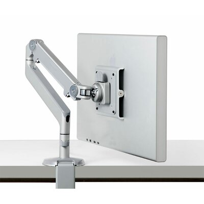 M2 Monitor Height Adjustable Desk Mount Finish: Silver with Gray Trim, Base Type: Clamp