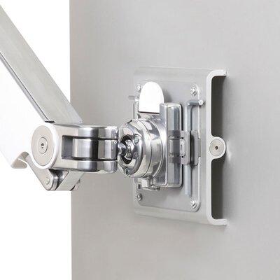 M8 Monitor Height Adjustable Desk Mount Finish: Polished Aluminum with White Trim, Base Type: Clamp