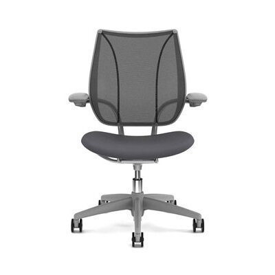 Liberty Task Chair Seat Fabric: Wave - Graphite, Back Fabric: Pinstripe Mesh - Silver Product Image 904