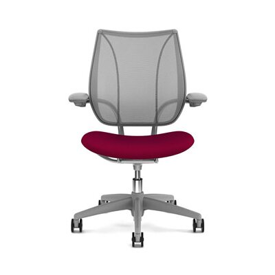 Liberty Task Chair Back Fabric: Monofilament Stripe Mesh - Platinum, Seat Fabric: Wave - Poppy Product Image 884