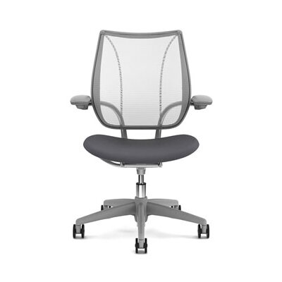 Liberty Task Chair Seat Fabric: Vellum - Light Gray, Back Fabric: Pinstripe Mesh - White Product Image 904