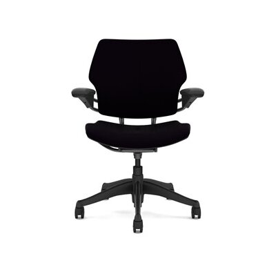 Freedom Task Chair Seat Fabric: Vellum - Black Product Image 4