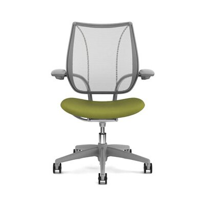 Liberty Task Chair Back Fabric: Pinstripe Mesh - Silver, Seat Fabric: Wave - Sage Product Image 4374