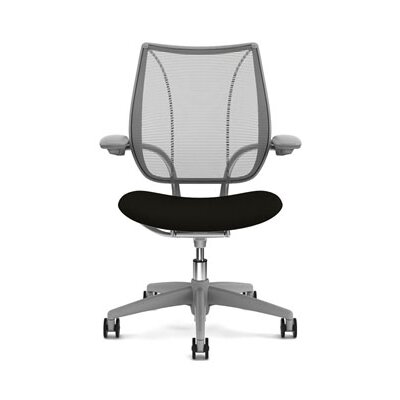 Liberty Task Chair Back Fabric: Pinstripe Mesh - Graphite, Seat Fabric: Wave - Black Product Image 884