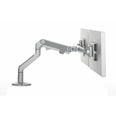 M8 Monitor Height Adjustable 2 Screen Desk Mount Finish: Silver with Gray Trim, Base Type: Clamp