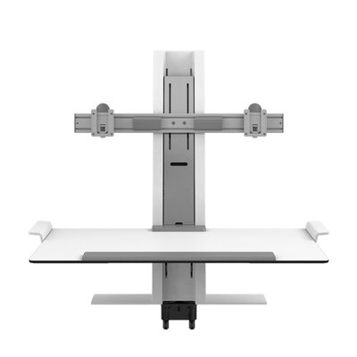 Heavy Mount Quickstand with Large Platform and Cossbar Color: White
