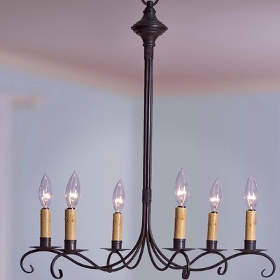 Sockets 3 Tier S-Arms Hanging 6-Light Candle-Style Chandelier Finish: Verdi Gris