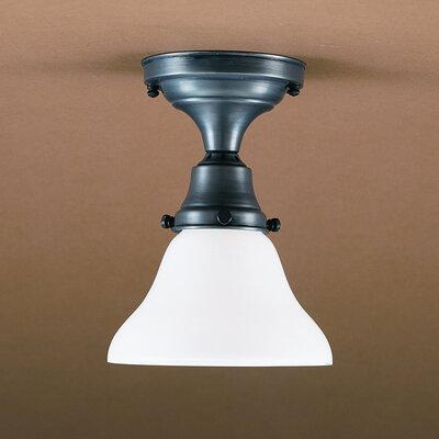 Pendant 8 Medium Base Socket Semi Flush Mount Finish: Raw Brass, Shade Color: 50G Green