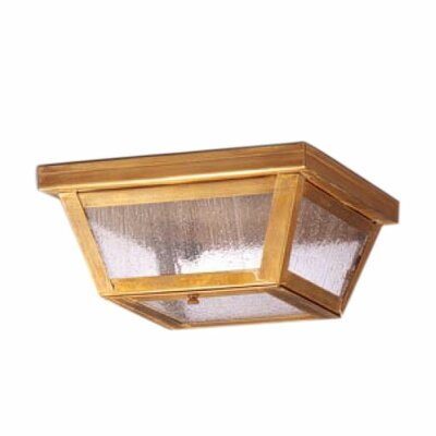 Williams 4 Sockets Flush Mount Finish: Dark Antique Brass, Shade Color: Seedy Marine