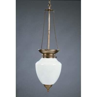 Vintage 1-Light Hanging Pendant Finish: Dark Antique Brass