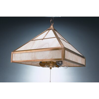 4-Light Hanging Pendant Finish: Verdi Gris, Glass Color: Caramel