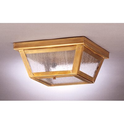 Williams 4 Sockets Flush Mount Finish: Antique Brass, Shade Color: Seedy Marine
