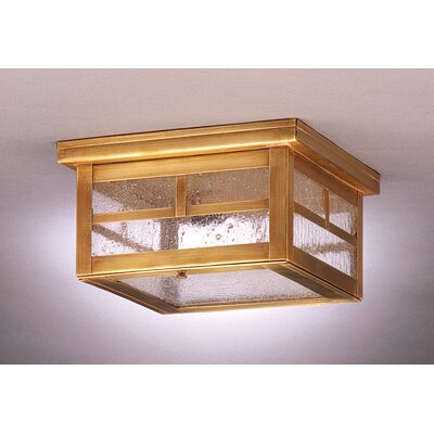 Williams 5 Sockets Flush Mount Finish: Dark Antique Brass, Shade Color: Caramel