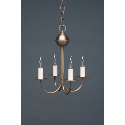 4-Light Candle-Style Chandelier Finish: Dark Antique Brass
