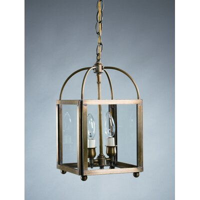 Chandelier 2-Light Foyer Pendant Finish: Antique Brass, Glass Type: Clear