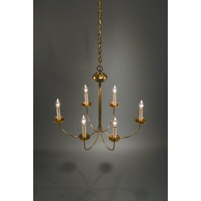 6-Light Candle-Style Chandelier Finish: Dark Antique Brass