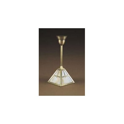 1-Light Pendant Finish: Antique Brass, Glass Color: Caramel