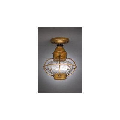 Onion 11 Socket Cage Finish: Antique Brass, Shade Color: Clear