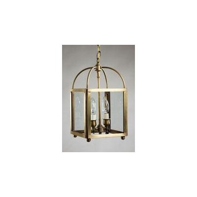 Chandelier 2-Light Foyer Pendant Finish: Dark Antique Brass, Glass Type: Clear