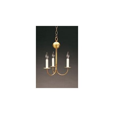 3-Light Candle-Style Chandelier Finish: Verdi Gris