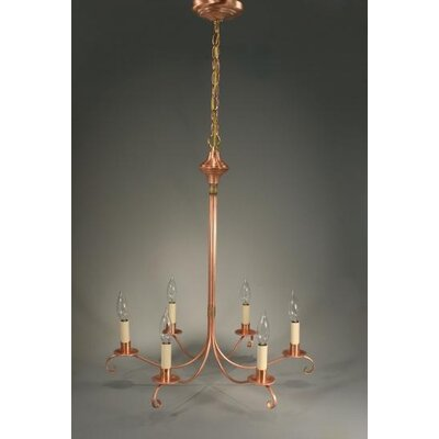 Sockets 3 Tier S-Arms Hanging 6-Light Candle-Style Chandelier Finish: Antique Copper