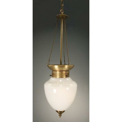 Vintage 1-Light Hanging Pendant Finish: Dark Brass
