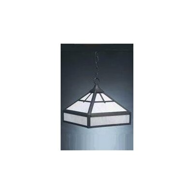 1-Light Hanging Foyer Pendant Finish: Verdi Gris, Glass Color: Caramel