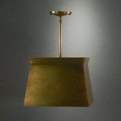 2-Light Drum Pendant Finish: Raw Brass
