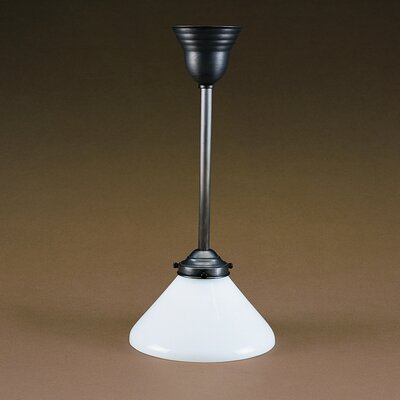 1-Light Pendant Finish: Verdi Gris, Glass Color: White