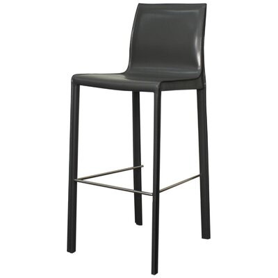 Gervin 29.5 Bar Stool with Cushion Upholstery: Anthracite