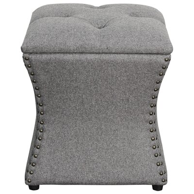 Mendes Storage Ottoman Upholstery: Cement